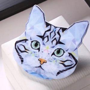 SILVER FILIGREE EARRINGS Jewelry RUSSIAN BLUE Cat